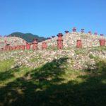 古墳から日本最大の大鏡(単頭双胴怪獣鏡)が発掘された場所、史跡柳井茶臼山古墳を訪ねてみました。